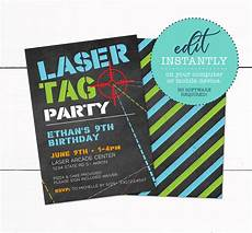 Printable Party Designs Laser Tag Birthday Party Invitation Taylor George Designs