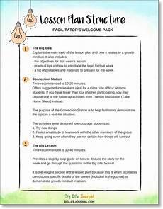 Lesoon Plan Lesson Plans Pdf Ages 7 10 Big Life Journal