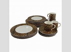 Cheetah 20 Piece Dinnerware Set   Dinnerware, Casual