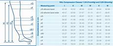 Jobst Compression Measuring Chart Jobst Ultrasheer Class 2 Black Knee High Compression