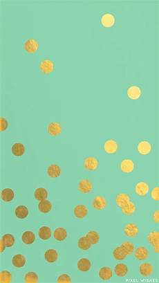 Polka Dot Wallpaper For Iphone by Gold Polka Dots On Mint Mint Wallpaper Kate Spade