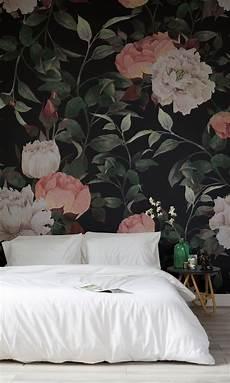 flower wallpaper modern vintage floral wall mural backgrounds floral