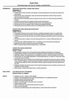 Ability To Work Independently And As Part Of A Team Computer Vision Scientist Resume Samples Velvet Jobs
