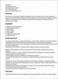 Entry Level Graphic Designer 1 Entry Level Graphic Designer Resume Templates Try Them