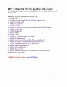 Interview Questions Accounting 20 Best Accounting Interview Questions And Answers