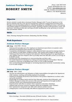 Employee Resume Assistant Produce Manager Resume Samples Qwikresume