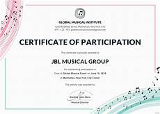 Sample Certificate Of Participation Free Choir Certificate Of Participation Template In Adobe