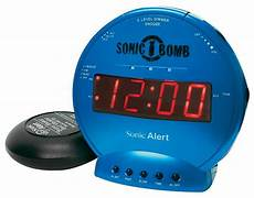 sonic bomb loud dual alarm clock with vibrating bed shaker