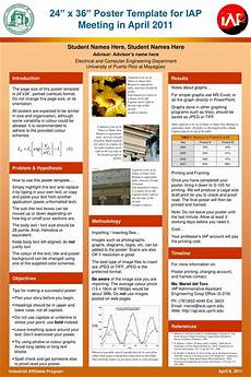 Academic Poster Template Powerpoint Ppt 24 X 36 Poster Template For Iap Meeting In April