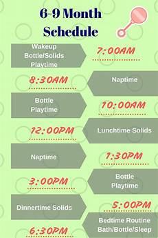 Feeding Schedule For Babies 6 9 Month Baby Schedule Baby Schedule Baby Food
