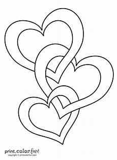 Malvorlagen Herzen Kostenlos Ausdrucken Connected Hearts Coloring Page Print Color