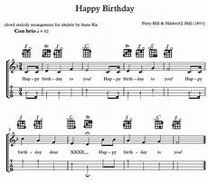 Happy Birthday Ukulele Chords Happy Birthday Chord Melody Arrangement For Ukulele Anne