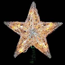 Large Light Up Star Tree Topper 12 Quot Lighted Snowy Crystal Style Star Christmas Tree Topper