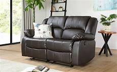 dakota brown leather 2 seater recliner sofa furniture choice