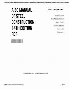Steel Construction Manual 14th Edition Pdf Steel Construction Manual 14th Pdf Heavenlybells Org