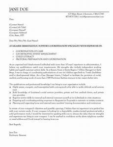 Nonprofit Cover Letter Non Profit Support Coordination Specialist Cover Letter