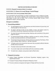 chief accountant duties financial accountant responsibilities
