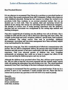 Letter Of Recommendation Teacher 15 Letter Of Recommendation For A Teacher Free Pdf Doc