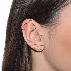 ear mm size chart measuring earrings diameter size