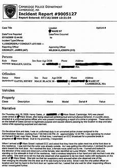 Barrow County Incident Report Henry Louis Gates Jr Police Report The Smoking Gun