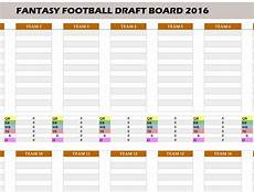 Football 2016 Draft Board My Excel Templates