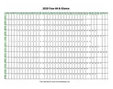 At A Glance Yearly Calendar Printable 2018 2019 2020 Year At A View Glance Calendar