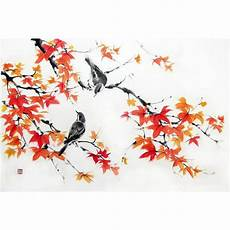image result for maple leaf ink painting