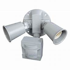 Defiant Lighting Defiant 110 Degree 2 Light Grey Motion Activated Outdoor