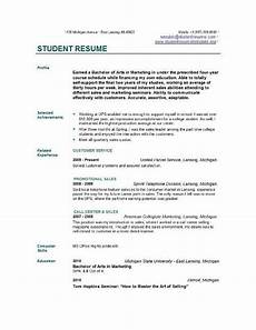 Free Student Resume Templates Free Resume Templates For College Students College