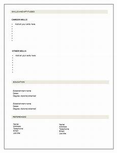 Free Blank Resume Templates Download Free Blank Resume Template Pdf