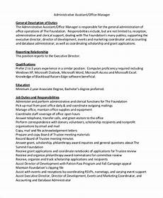 Medical Office Administration Duties Free 8 Sample Office Assistant Job Description Templates