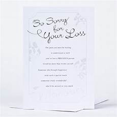 Sympathy Card For Loss Sympathy Card So Sorry For Your Loss Only 89p