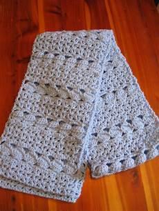 cottage crafts cozy blue scarf