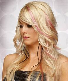 Light Champagne Hair Long Straight Formal Hairstyle With Side Swept Bangs
