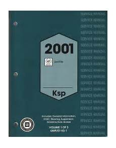 2001 Cadillac Deville Factory Service Manual 3 Volume Set
