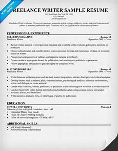 Resumes For Writers Freelance Writer Resume Example Resumecompanion Com