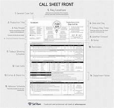 Call Sheet Template Excel Creating Professional Call Sheets Free Excel Template