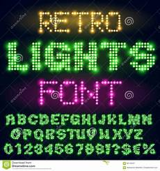 Stheititc Light Font Night Lights Font Stock Vector Illustration Of Festival