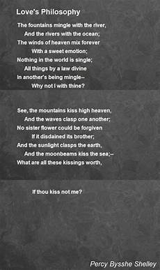 Love S Philosophy Poem By Percy Bysshe Shelley Poem Hunter