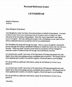 How To Write A Letter Head Printable Personal Reference Letter 15 Free Word Pdf