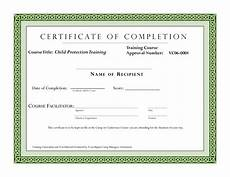 Certification Of Completion Template Course Completion Certificate Template Certificate Of
