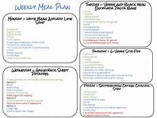 Help Me Make A Grocery List Healthy Weekly Meal Plan 9 19 15 Cook Nourish Bliss