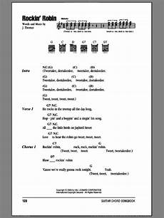 Robin Malvorlagen Chords Day Rockin Robin Sheet For Guitar Chords Pdf