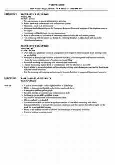 Sample Resume For Office Job Front Office Executive Resume Samples Velvet Jobs