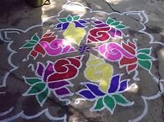 Color Kolam Designs With Dots Margazhi Colour Kolam Sangu Kolam 15 8 Inbetwwen Dot Kolam
