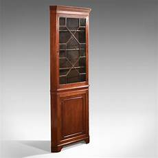 edwardian glazed antique corner cabinet c 1910