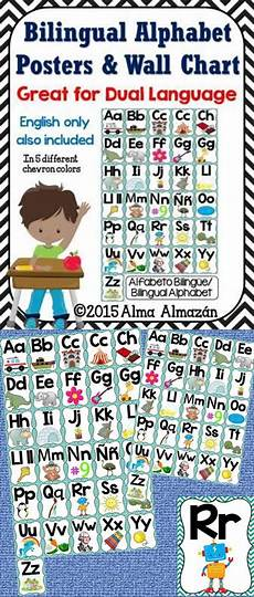 Alphabet And Number Wall Charts Bilingual Alphabet Posters And Wall Chart For Dual