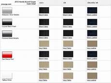 Honda Civic Color Code Chart 2012 Honda Accord Coupe Colors Onsurga