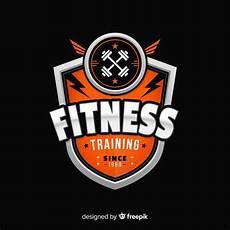 Fitness Logo Design Flat Design Fitness Logo Template Free Vector