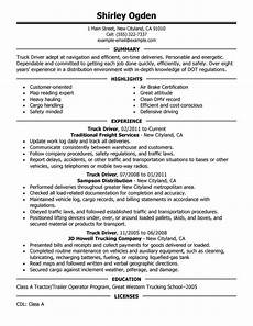 Trucking Resume Examples 12 Amazing Transportation Resume Examples Livecareer